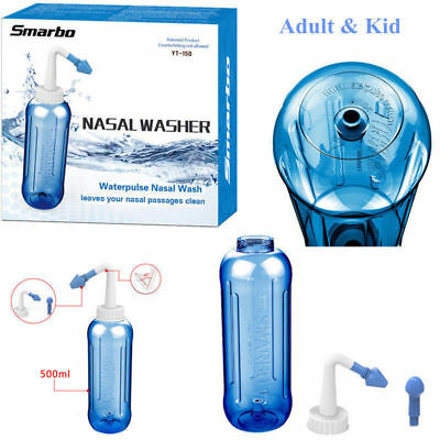 (500ml Nasal Wash Neti Pot Nose Cleaner Cup Irrigator Saline Sinusitis Tool)