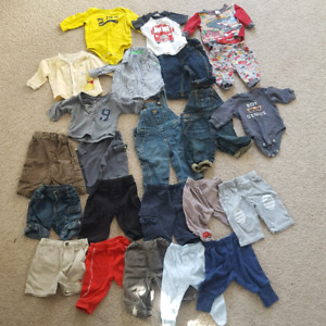 Baby Clothing 0-3 months - mostly pants