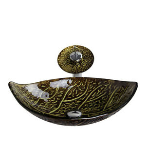 NEW Autumn Glass Specialty Vessel Bathroom Sink