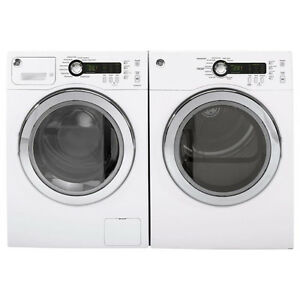 GE 2.6 Cu.Ft Front Load Washer & 4 Cu.Ft Electric Dryer COMBO Wh
