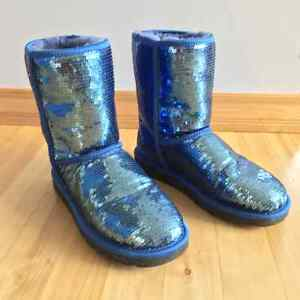 Brand New Classic Short Uggs - Blue Sequins - rare