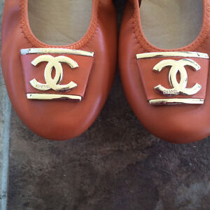 Orange leather CC ballet flats Cornwall Ontario image 5