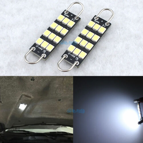 2Pcs White Under Hood LED Engine Compartment Light Replacement Bulb Lamp