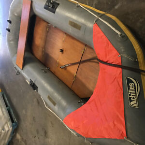 9' Achillies Inflatable Boat with Honda 4stroke Outboard