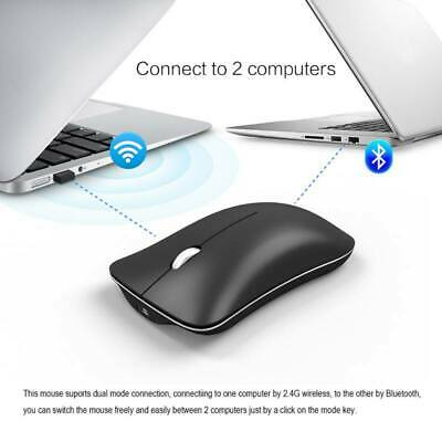 Wiederaufladbare 2,4 G Wireless USB Maus Kabellose Mouse für Laptop Bluetooth4.0 (Usb Wiederaufladbare Wireless-maus)