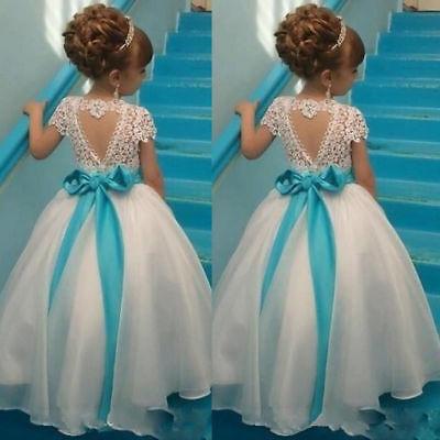 Princess First Communion Dresses Flower Girl Dresses Kids Wedding Birthday Gown](Girl First Communion Dresses)