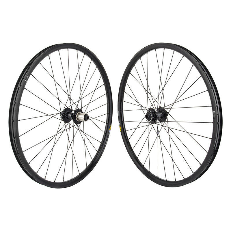 Mach1 Magma 6B Disc 29er Mountain Bike Commuter Wheelset 32h QR F//R Black
