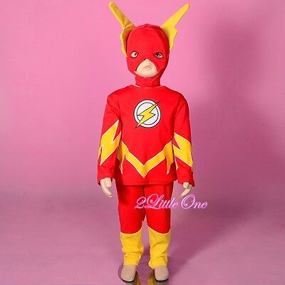 The Flash Superhero Fancy Set Costume Mask Halloween Party Toddler Size 2T-7 032 - Cheap Infant Toddler Halloween Costumes