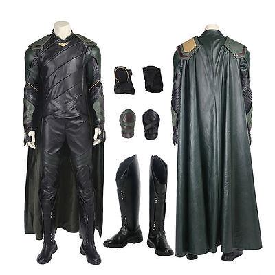 Top Grade Thor 3 Ragnarok Loki Cosplay Costume Handmade](Movie Grade Costumes)