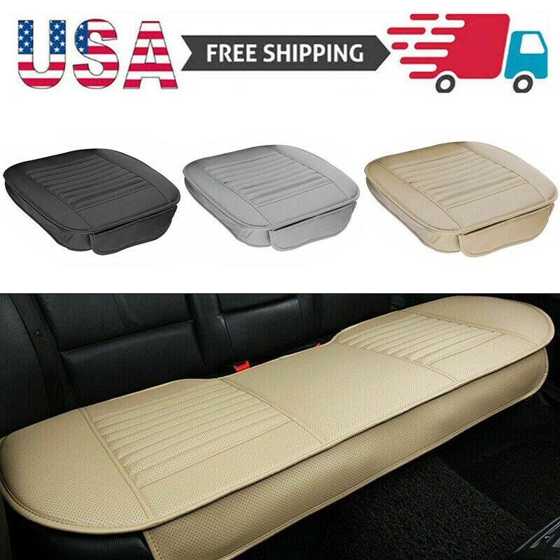 US Car Seat Cover PU Leather Front Rear Set Full Surrounding Cushion Protector Car & Truck Parts