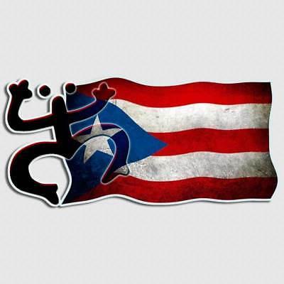 Islands Flag Decal Sticker (Puerto Rico Flag Decal Coqui Frog Island Beach PR Window Surfboard Phone Sticker )