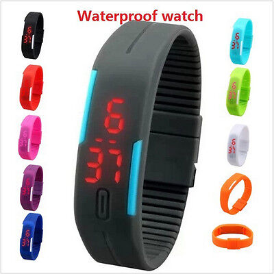 Best Sell Unisex Silicone LED Sport Bracelet Touch Digital Wrist