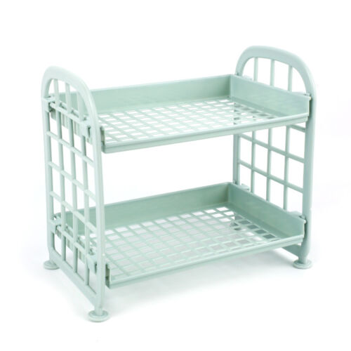 Plastic 2 Layers Creative Storage Racks Organizer Shelf Rack Kitchen Bathroom