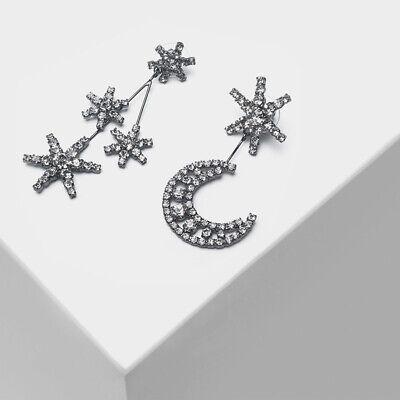 Signed JENNIFER BEHR Crescent Moon & Star Statement Prong Earrings