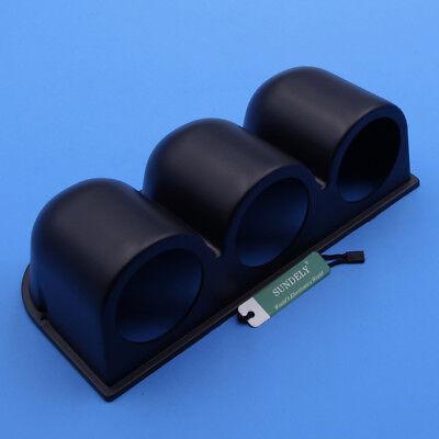 52mm Universal Black 3 Triple Dash Gauge Meter Pod Car Auto Mount Holder