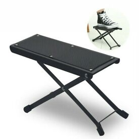 Guitar Foot Stool Black Folding Footstool Rest Acoustic Classical Practice steel sturdy strong stand
