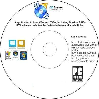 Easy CD DVD Blu-ray ISO Copy Burn Ripper Software CD All Windows Free Shipping