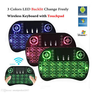 i8 2.4g Wireless Backlit remote with Touchpad