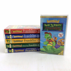 6 Franklin The Turtle VHS Tapes 21 Cartoon Episodes Bourgeois