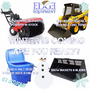 Skid Steer Bobcat Rentals and Snow Attachments for rent or sale