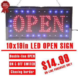 LED OPEN SIGN SCROLLING WINDOW SIGN