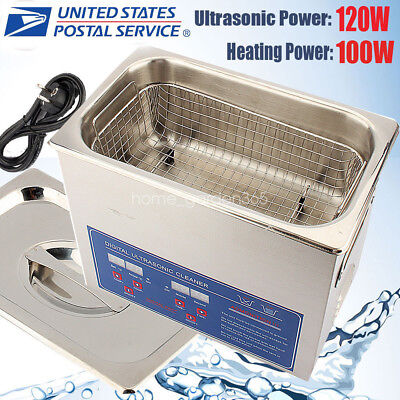 3l Digital Ultrasonic Cleaner Kit Ultra Sonic Bath Timer Jewellery Cleaning Tool