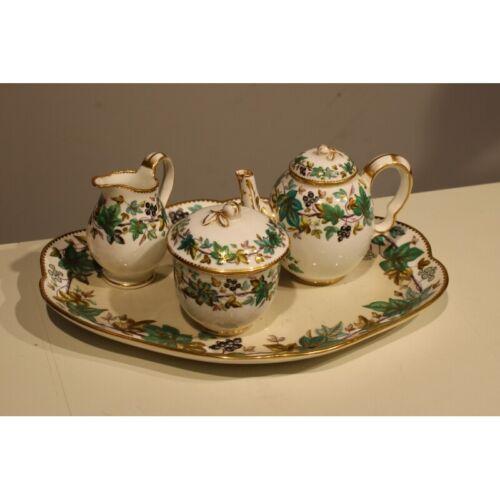 Vintage 20th Original Rare England Tea set ivy DANIELL London Porcelain 25cm