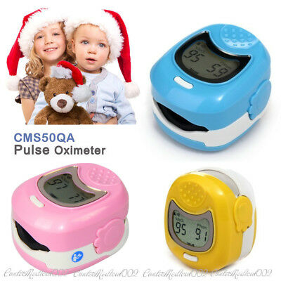 Infant Pediatric Finger Pulse Oximeter Kid Spo2 Blood Oxygen Pulse Rate O2 Meter