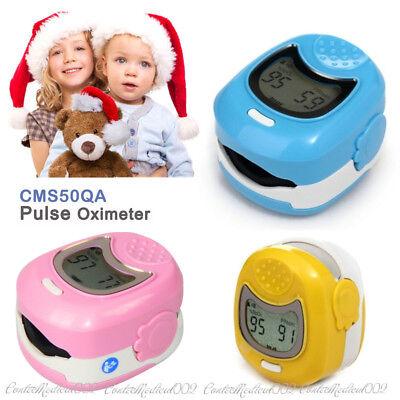 Infant Pediatric Finger Pulse Oximeter Kid Spo2 Blood Oxygen Pulse Rate O2 Meter