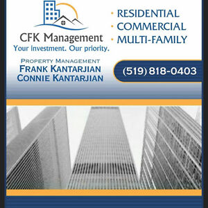 CFK MANAGEMENT WILL RENT YOUR RENTAL!  PROPERTY MANAGEMENT