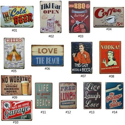 Vintage Tin Sign Garage Beer Bar Pub Home Wall Decor Retro Metal Art Poster US](Retro Decoration)