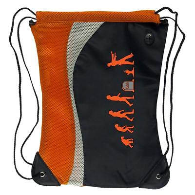 Zombie Trick Or Treat Bags (Halloween Human Zombie Evolution Trick or Treat Drawstring Sport)