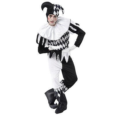 Mâle Adulte # ARLEQUIN NOIR ET BLANC Déguisement clown Taille Unique - Unique Male Costumes