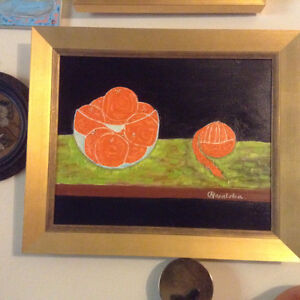 OIL PAINTING C Masalska STILL LIFE ORANGES