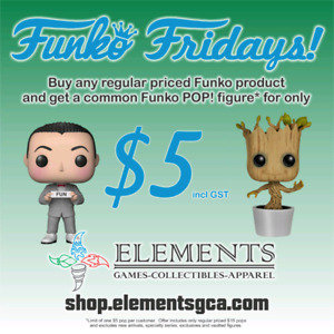 $5 FUNKO FRIDAY at Elements for the month of August