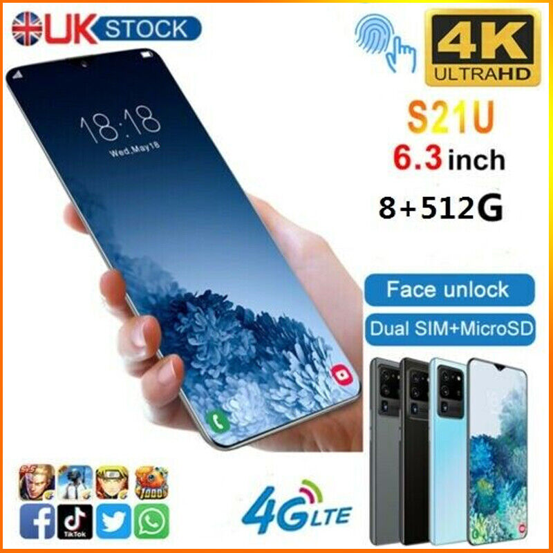 """Android Phone - 6.3"""" Large Screen Android 6.0 Smartphone Quad Core 2SIM  Mobile Phone UK 2021"""