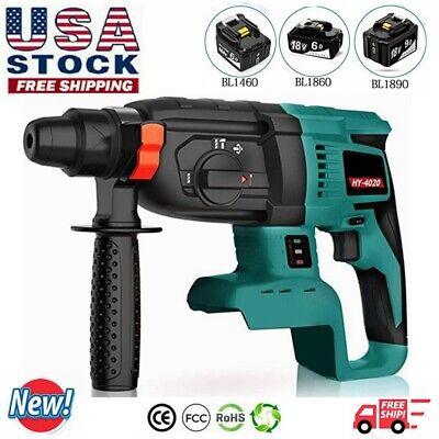 1-12 Sds Plus Brushless 18v Cordless Rotary Hammer Drill 3 Modes Tool Only