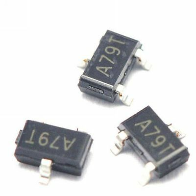 100pcs Ao3407 A79t 4.3a30v Sot23 Mos P-channel Mosfet Smd Transistor