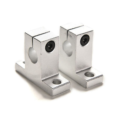 2pcs Sk10 10mm Bearing Cnc Aluminum Linear Rail Shaft Guide Support 4y Ws