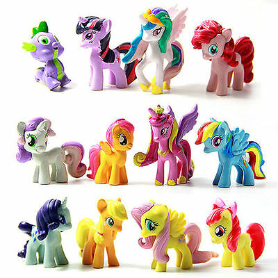 $7.12 - Lot of 12Pcs My Little Pony Cake Toppers PVC Action Figures Kids Girl Toy Dolls