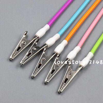 5 Pcs Dental Silicone Bib Clips Cord Flexible Tubes Napkin Holder Colorful
