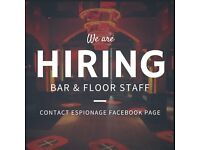 Part Time/ Full Time Bar Staff Positions