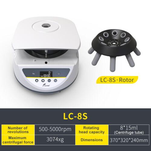 Lab PRP Benchtop Centrifuge Machine,8*15ml Tube,Digital Display,500-5000 r/min
