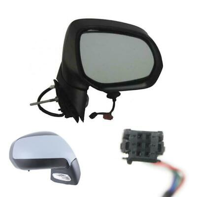 Side Mirror Convex Heated Primed RIGHT Fits PEUGEOT 3008 5008 MPV 2009