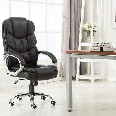 Executive Pu Leather Office Chair High Back Ergonomic Computer Desk Task 220lbs