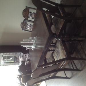 Beautiful solid wood dining room table