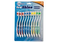 dentacare iceshine 10 pack toothbrushes