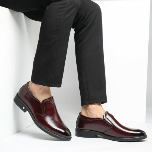Details about  /Mens Pointy Toe Slip on Business Work Casual Dress Formal Leisure Leather Shoes