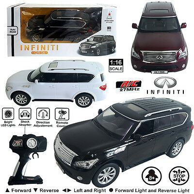 LICENSED Infiniti QX56 SUV Electric RC Radio Remote Control Car Kids Toy Vehicle