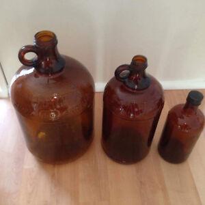 3 belles bouteilles JAVEX antique